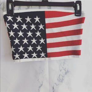 Fashion Nova/ American Flag Knit/ Tube Top A30